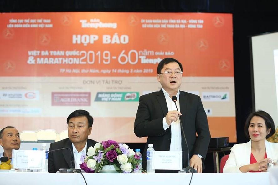 BTC chia sẻ thông tin về Tiền Phong marathon 2019. Ảnh: Như Ý