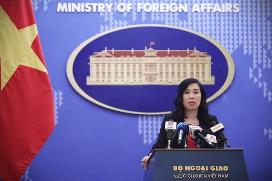 Người phát ngôn Bộ Ngoại giao Lê Thị Thu Hằng. Ảnh: PV