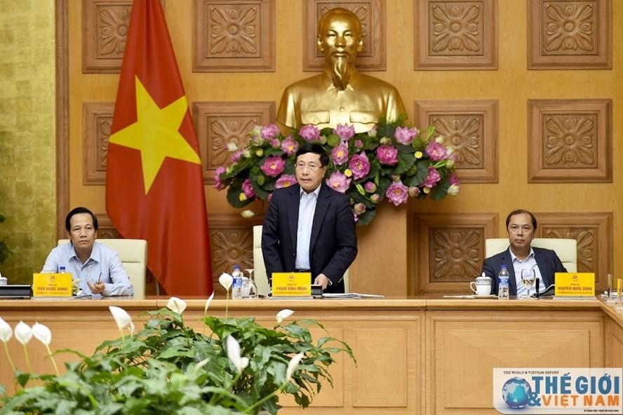 Phó Thủ tướng Chính phủ Phạm Bình Minh chủ trì Phiên họp lần hai Ủy ban Quốc gia về chuẩn bị và thực hiện vai trò Chủ tịch ASEAN năm 2020. Ảnh: TGVN.