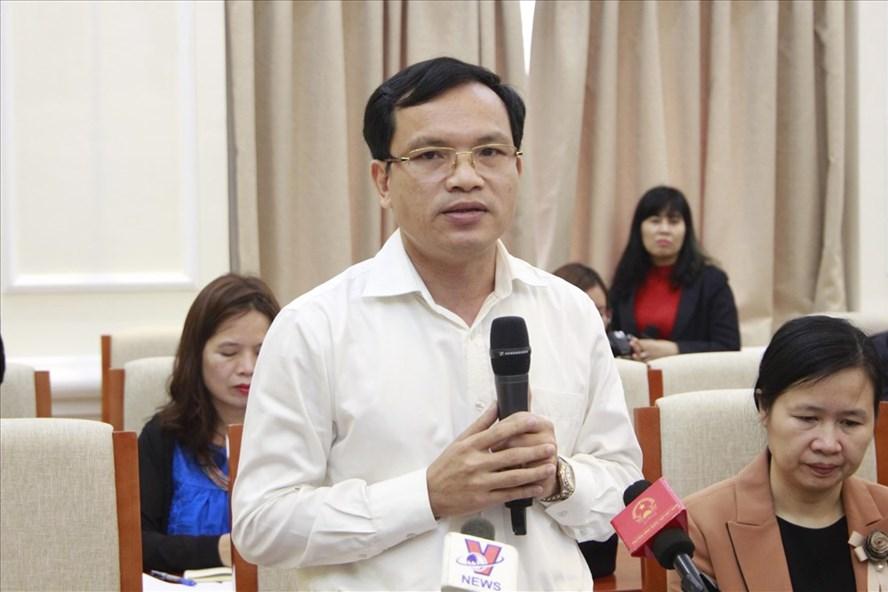 Ông Mai Văn Trinh - Cục trưởng Cục quản lý chất lượng - thông tin về tình hình xử lý các vụ việc gian lận thi cử trong kỳ thi THPT quốc gia 2018.