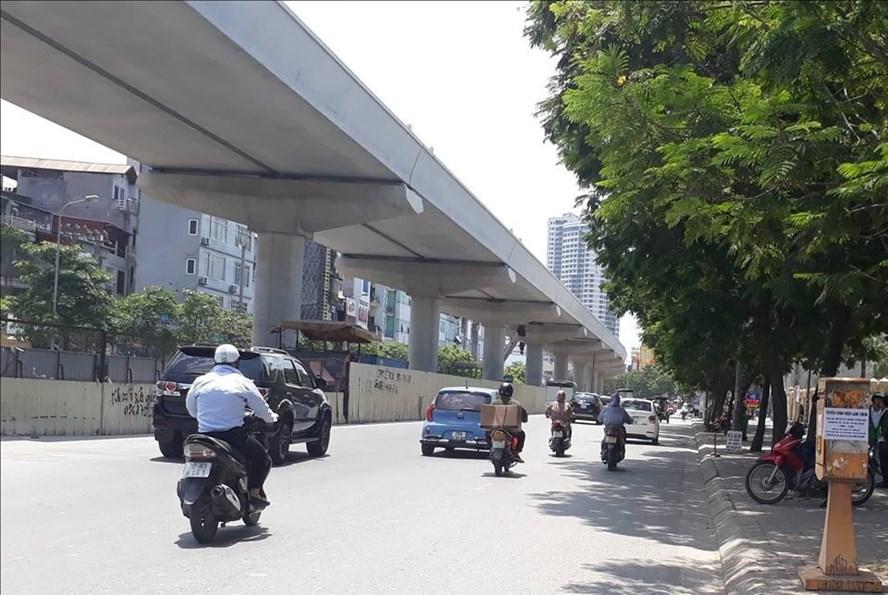 Tuyến đường sắt Nhổn - ga Hà Nội dự kiến sẽ đưa vào hoạt động từ năm 2020. Ảnh Ngọc Lan