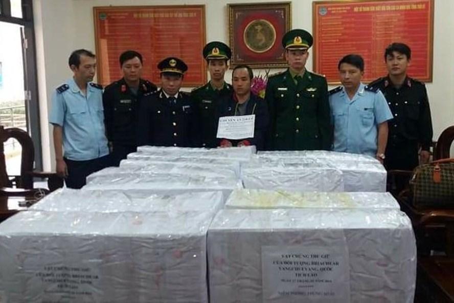 Toàn bộ 294kg ma túy được các lực lượng chức năng niêm phong sau khi bắt giữ.
