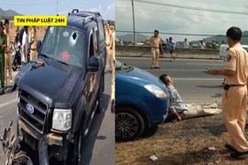 """Tin pháp luật 24h: Nguyên nhân đại úy CSGT bị tài xế xe """"điên"""" ép ngã"""