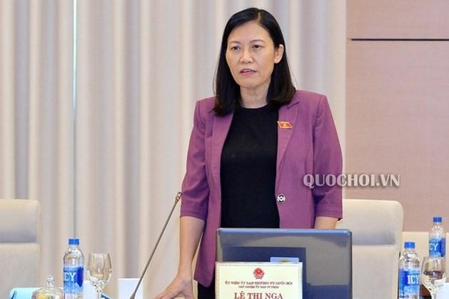 Chủ nhiệm Ủy ban Tư pháp Lê Thị Nga. Ảnh Q.H