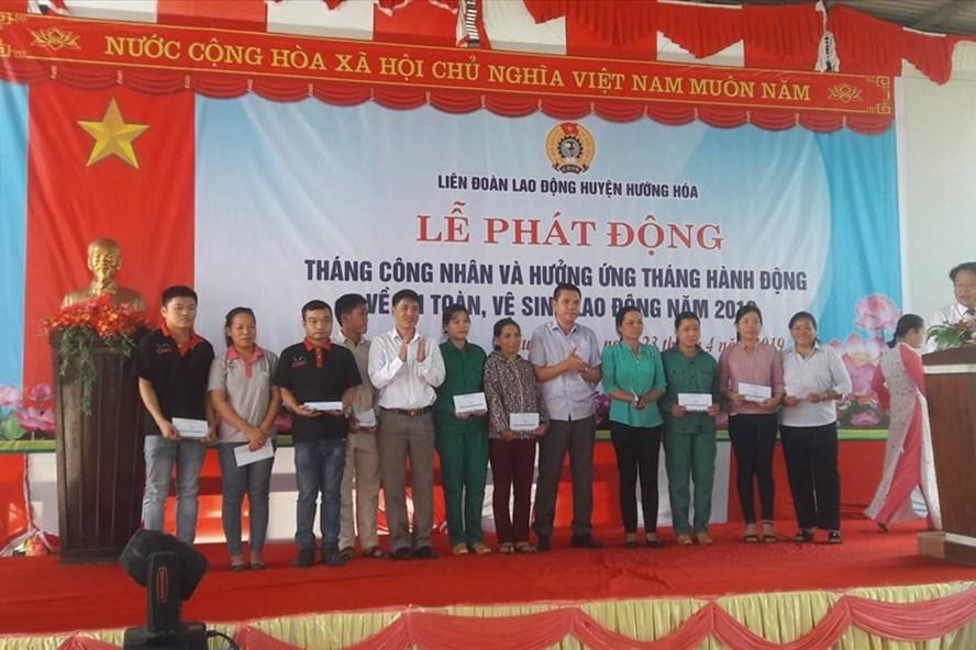 LĐLĐ huyện Hướng Hóa (Quảng Trị) tổ chức Tháng Công nhân năm 2019 tại Công ty Chaicheron Việt - Thái. Ảnh: Công Sang