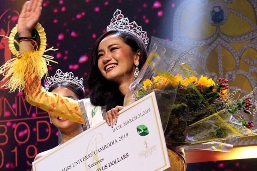 Hoa hậu Hoàn vũ Campuchia 2019 gây gây tranh cãi vì vẻ bỠngoài quá non.
