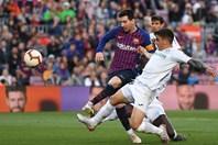 Messi qua mặt 5 cầu thủ Getafe ghi bàn cho Barca nhưng không ăn mừng