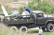 Hiện trường rơi máy bay quân sự khiến 2 phi công tử nạn