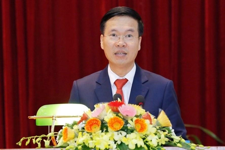 Đồng chí Võ Văn Thưởng - Ủy viên Bộ Chính trị, Bí thư Trung ương Đảng, Trưởng ban Tuyên giáo Trung ương. Ảnh: Phạm Quang Vinh