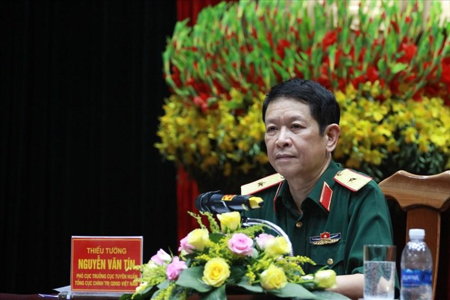 Thiếu tướng Nguyễn Văn Tín, Phó Cục trưởng Cục Tuyên huấn. Ảnh Trần Vương