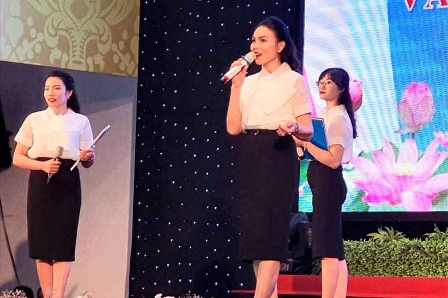 Hội LHPN tỉnh tham gia hội thi. Ảnh: Lê Phi Long