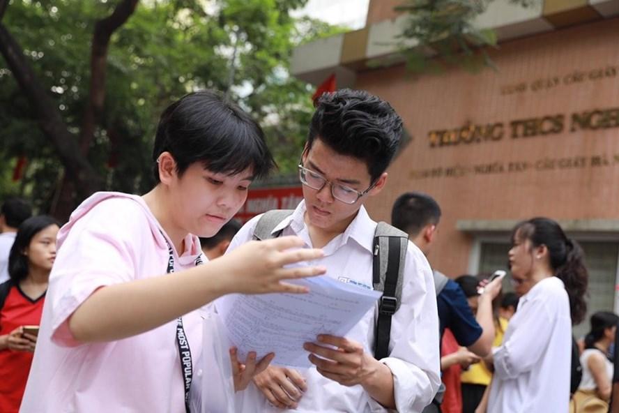 Thí sinh dự thi THPT Quốc gia 2019. Ảnh: Hải Nguyễn