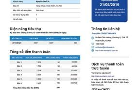 EVN công bố kết quả bình chọn mẫu hóa đơn tiền điện mới