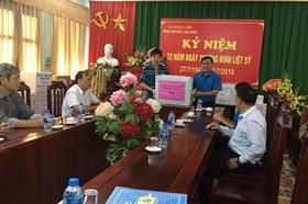 LĐLĐ tỉnh Bắc Giang thăm hỏi, tặng quà nhân ngày Thương binh liệt sỹ