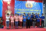 Thái Bình: Liên đoàn Lao động huyện Vũ Thư thành lập Công đoàn cơ sở mới