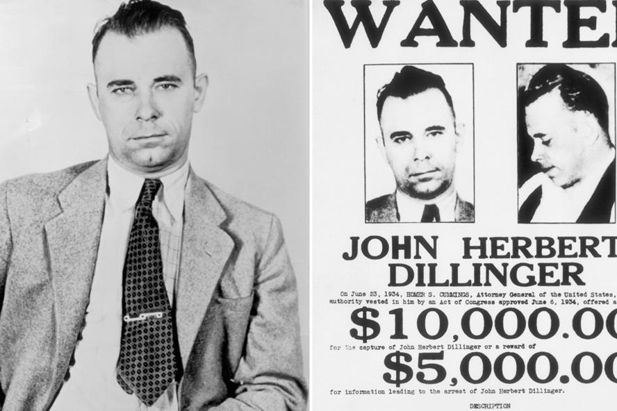 Ảnh truy nã John Dillinger do FBI công bố.