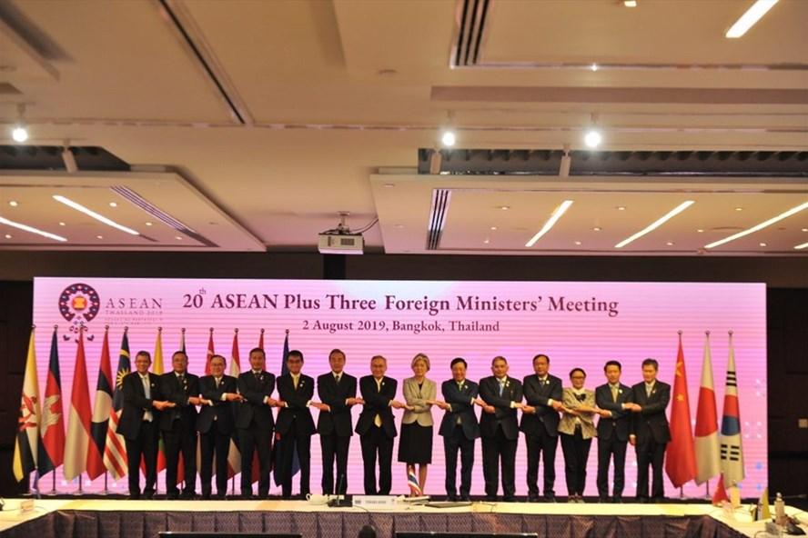 Hội nghị Bộ trưởng Ngoại giao ASEAN+3 lần thứ 20 tại Bangkok, Thái Lan ngày 2.8. Ảnh: Asean2019.go.th.