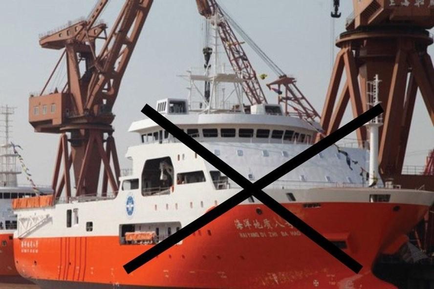 Tàu khảo sát địa chất Hải Dương 8 của Trung Quốc. Ảnh: SCMP.