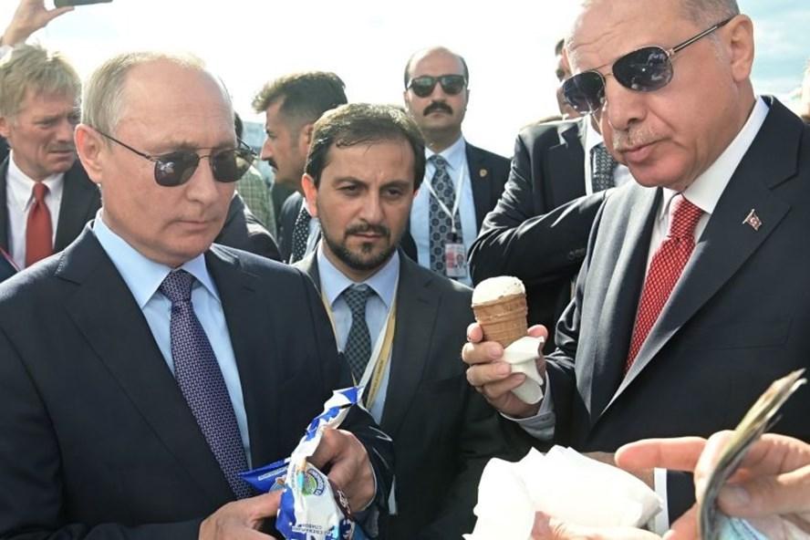 Hai nhà lãnh đạo Nga- Thổ Nhĩ Kỳ. Ảnh: Sputnik.