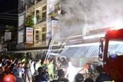 Cà Mau cháy chợ trong đêm mưa, 5 người bị thương