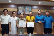 Công đoàn Y tế VN trao hỗ trợ đoàn viên công đoàn mắc bệnh hiểm nghèo