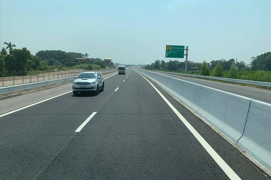 Cao tốc Bắc Giang - Lạng Sơn bắt đầu thông xe từ hôm nay 29.9. Ảnh LA
