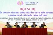 Hội nghị triển khai Thông báo của Bộ Chính trị về phát triển thành phố Vinh