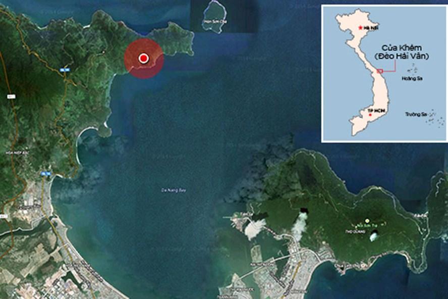 Dự án khu nghỉ dưỡng quốc tế tại Cửa Khẻm (vùng khoanh đỏ) của đèo Hải Vân. Ảnh Vnexpress