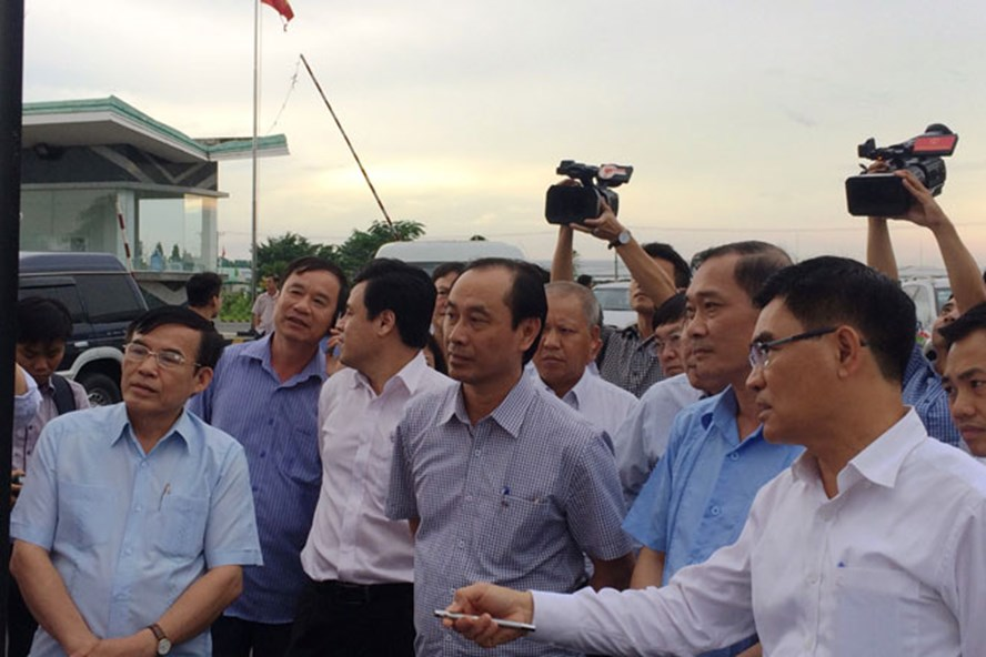 Đoàn giám sát Quốc hội đang khảo sát dự án sân bay Long Thành_Ảnh: V.P