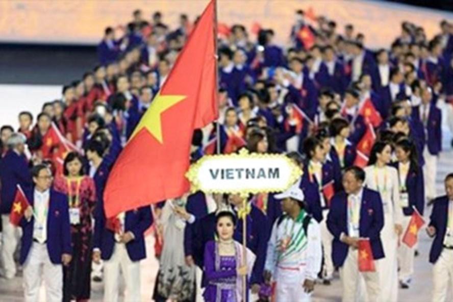 Đoàn thể thao Việt Nam tham dự SEA Games 29 với số VĐV kỷ lục là 476, còn tổng số thành viên là 693 (Ảnh: Thethaovietnam.vn)