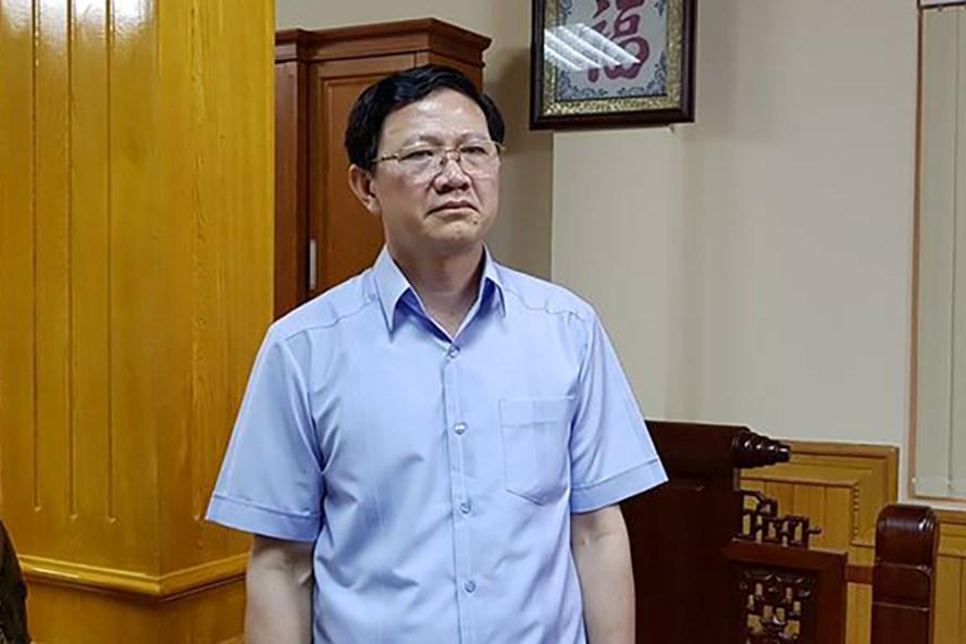 Ông Vũ Xuân Sáng tại phòng làm việc. Ảnh: TP.